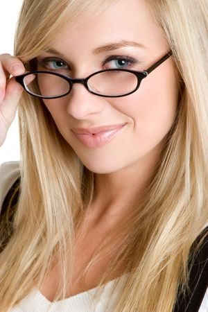 Woman Wearing Eyeglasses Stock Photo - 3307631