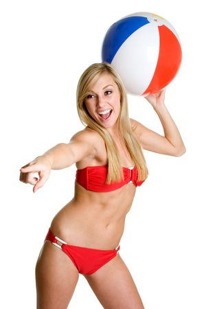 Beach Ball Teen Stock Photo - 3307627