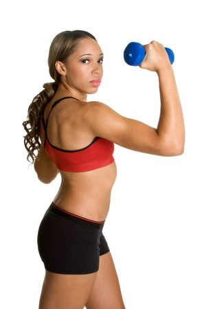 Weight Lifting Woman Stock Photo - 3208534