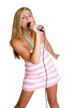 Karaoke Woman Stock Photo - 3236725