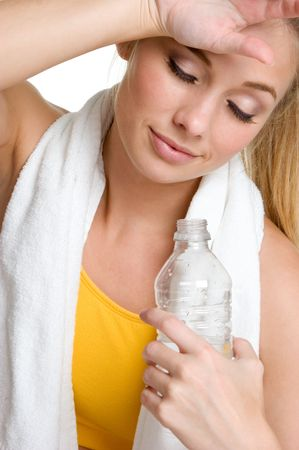 Exhausted Fitness Woman Stock Photo - 3236724