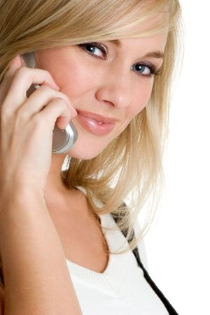 Cell Phone Girl Stock Photo - 3307692