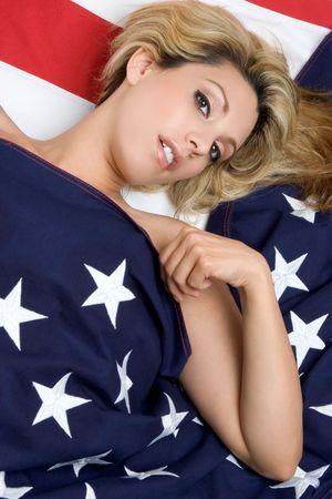 Patriotic Woman Stock Photo - 3307694