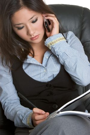 korean ethnicity: Businesswoman on Phone