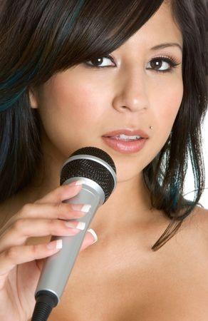 kareoke: Singing Girl Stock Photo