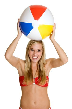 Beach Ball Girl photo