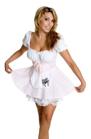 curtsy:  Costume Woman Stock Photo