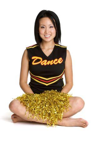pom poms: Smiling Cheerleader