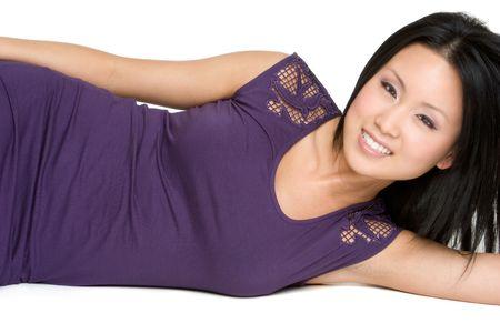 korean ethnicity: Beautiful Asian Woman Stock Photo
