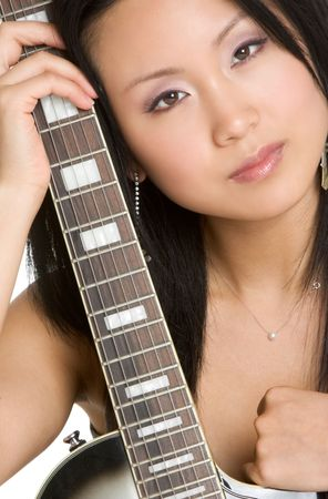 Guitar Woman Stock Photo - 3289665