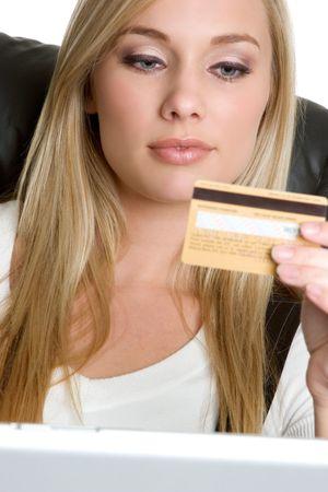 Creditcard Woman Stockfoto