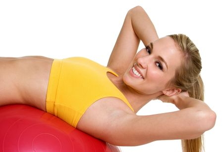 Girl Working Out Stock Photo - 3274893