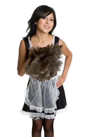 french ethnicity: Smiling French Maid Stock Photo