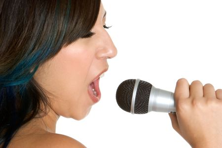 Singing Hispanic Girl Stock Photo - 3279075