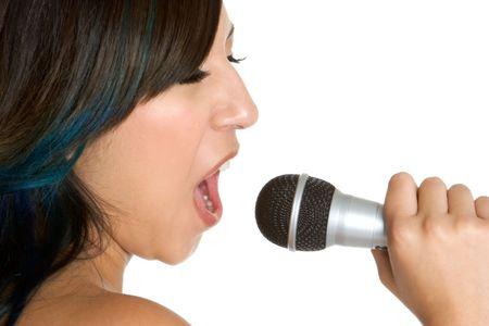 Singing Hispanic Girl Stock Photo - 3279075