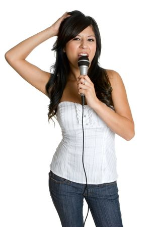 Singing Latina Girl Stock Photo - 3279076
