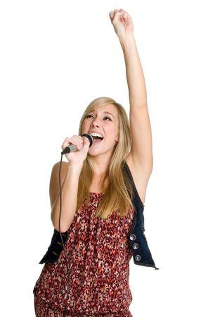 Singing Teen Stock Photo
