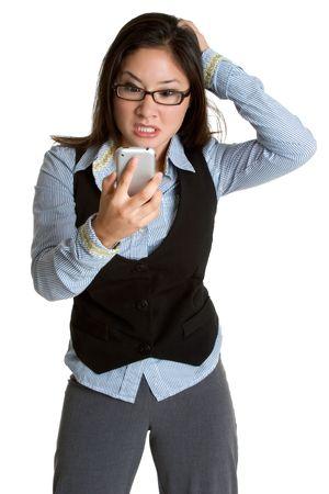 Frustrated Businesswoman Archivio Fotografico