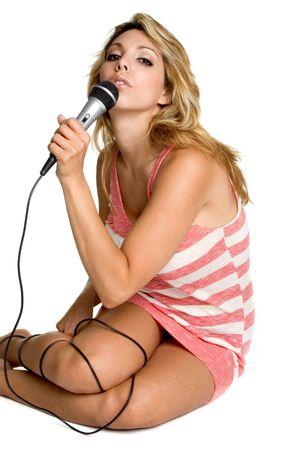 Beautiful Singing Woman photo