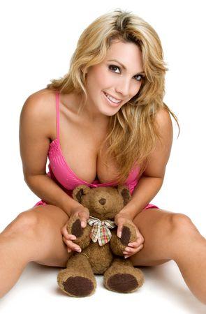 Teddy Bear Girl Stock Photo - 3320504