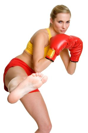Kick Boxer Girl Stock Photo - 3320523