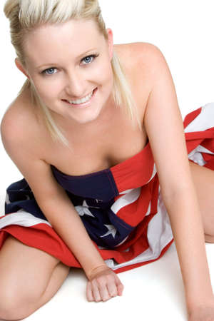 Sexy Flag Woman Stock Photo - 3430757