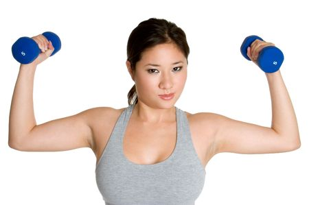 koreans: Woman Lifting Weights