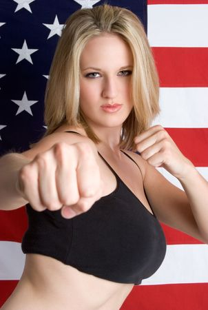 American Martial Arts Woman Stock Photo - 3430697