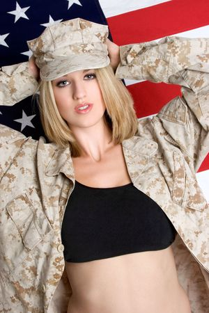 sexy army girl: Military Woman