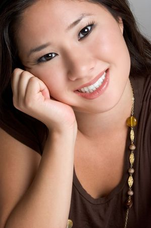 Asian Woman Smiling Stock Photo - 3347344