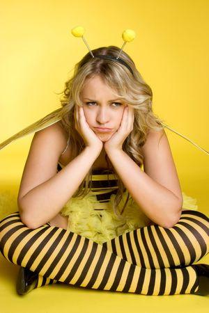 Sad Bumblebee Stock Photo - 3430707