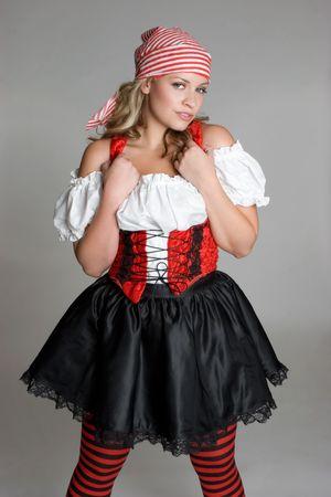 Chica en traje de pirata  Foto de archivo - 3430706