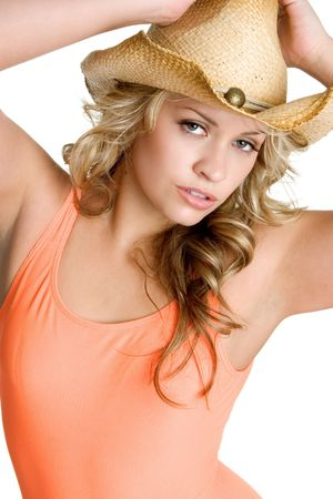 Cowgirl in Bathingsuit photo