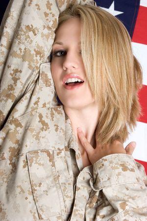 camos: Sexy Military Woman