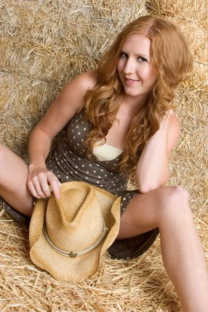 Sexy Redhead Cowgirl