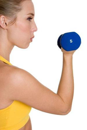 Woman Weight Lifting photo