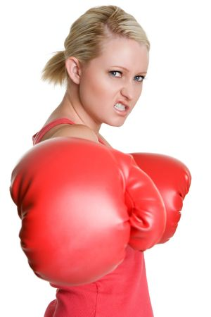 Angry Boxing Woman photo