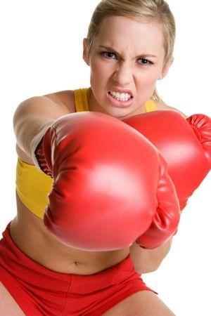 Aggressive Boxing Teen