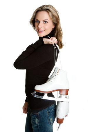 patinaje sobre hielo: Patinaje sobre hielo mujer  Foto de archivo