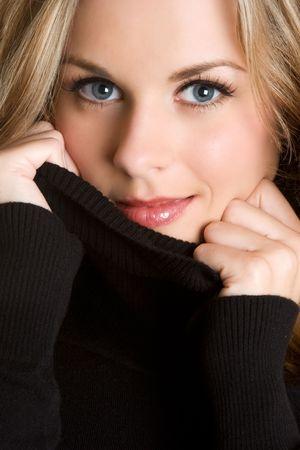 sueteres: Closeup de Pretty Woman  Foto de archivo