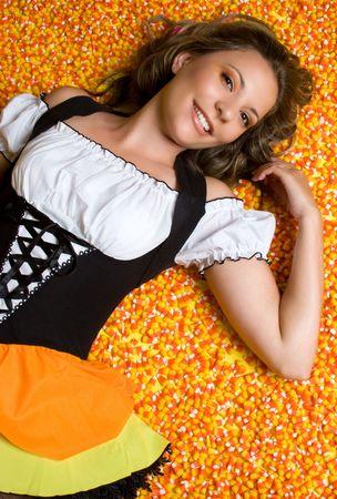 Candy Corn Woman Stock Photo - 3455022