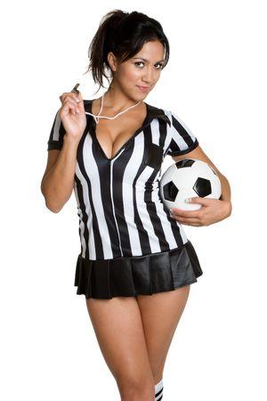 arbitros: �rbitro de f�tbol  Foto de archivo