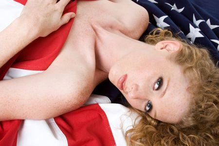 Patriotic Lady Stock Photo - 3540624