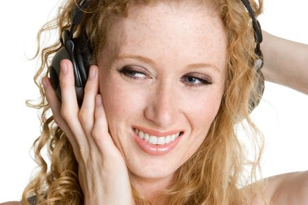 Smiling Music Woman Stock Photo - 3540513
