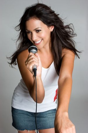 Singing Teen Stock Photo - 3573057