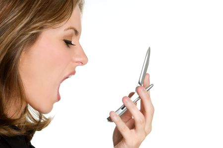 woman screaming: Angry Yelling Woman Stock Photo
