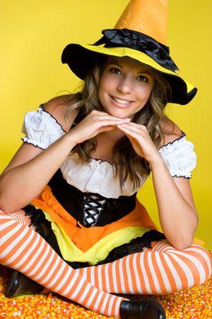 Halloween Witch Costume Stok Fotoğraf