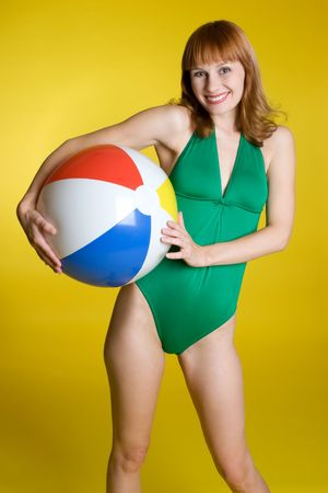 one piece swimsuit:  Ball Girl