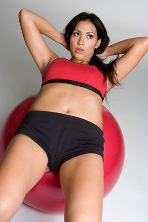 Woman Exercising photo