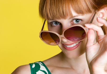 Sunglasses Woman Stock Photo